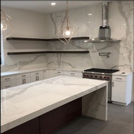 White Counter And Walls